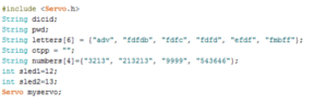 Arduino code snippet