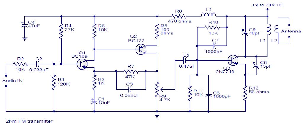 2km Fm transmitter circuit