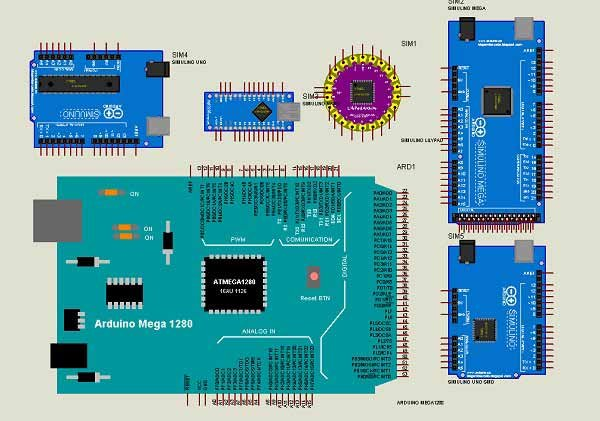 Arduino and Genuino board library for Proteus