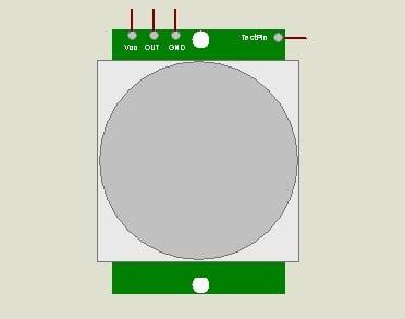 PIR Motion Sensor (HC-SR501) Library for Proteus