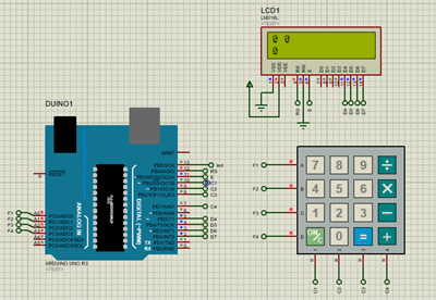 Arduino Based Calculator in Proteus