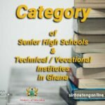 Ghana SHS / Technical Category and Selection PDF